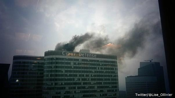 Smoke seen rising from skyscraper in Paris' La Défense business district