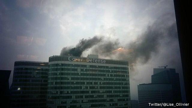 Smoke seen rising from skyscraper in Paris' La Défense business district