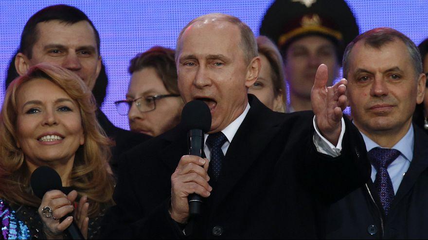 Russland feiert ersten Jahrestag der Krim-Angliederung