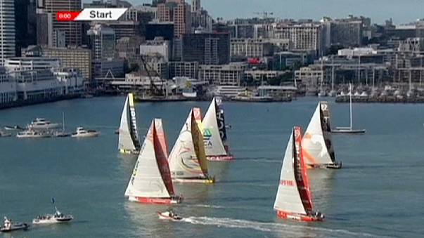 Volvo Ocean Race leaves for Brazil after Cyclone Pam delay