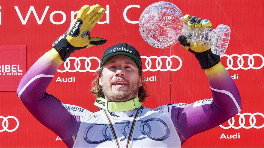 النرويجي جانسرود يتوج بالغلوب دوكريستال في مسابقة النزول للتزلج الألبي