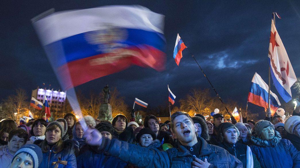Putin gibt den Ton an: Russland feiert Krim-Angliederung