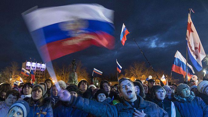 Hatalmas ünnepség volt Moszkvában a Krím-félsziget bekebelezésének egyéves évfordulóján