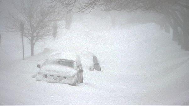 Temporal de nieve y viento afecta la costa atlántica de Canadá