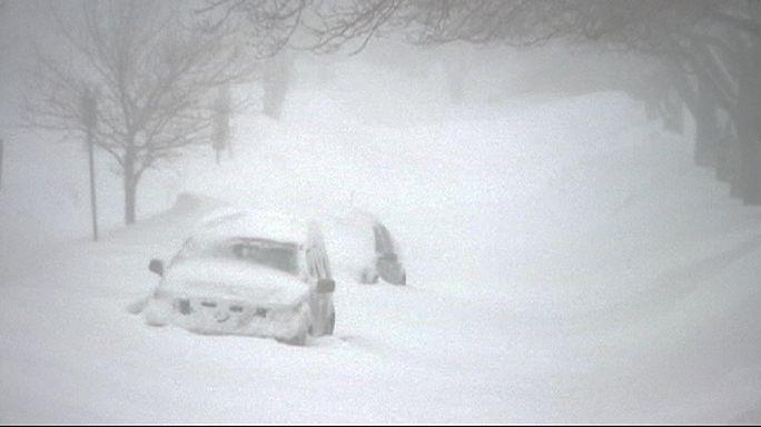 Canada. Bufera di neve sulle coste atlantiche