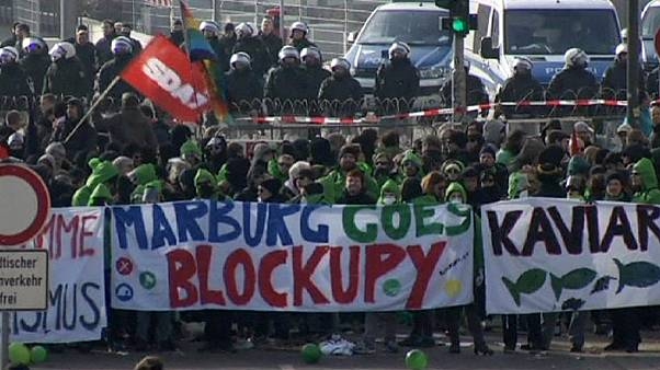 Blockupy-akcióFrankfurtban