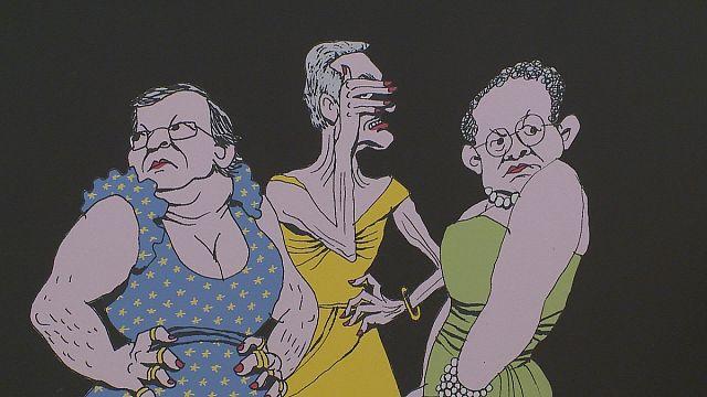 """""""شيرا كارتون"""" المعرض البرتغالي السنوي للرسوم الكاريكاتورية يفتتح فعالياته رغم التهديدات"""