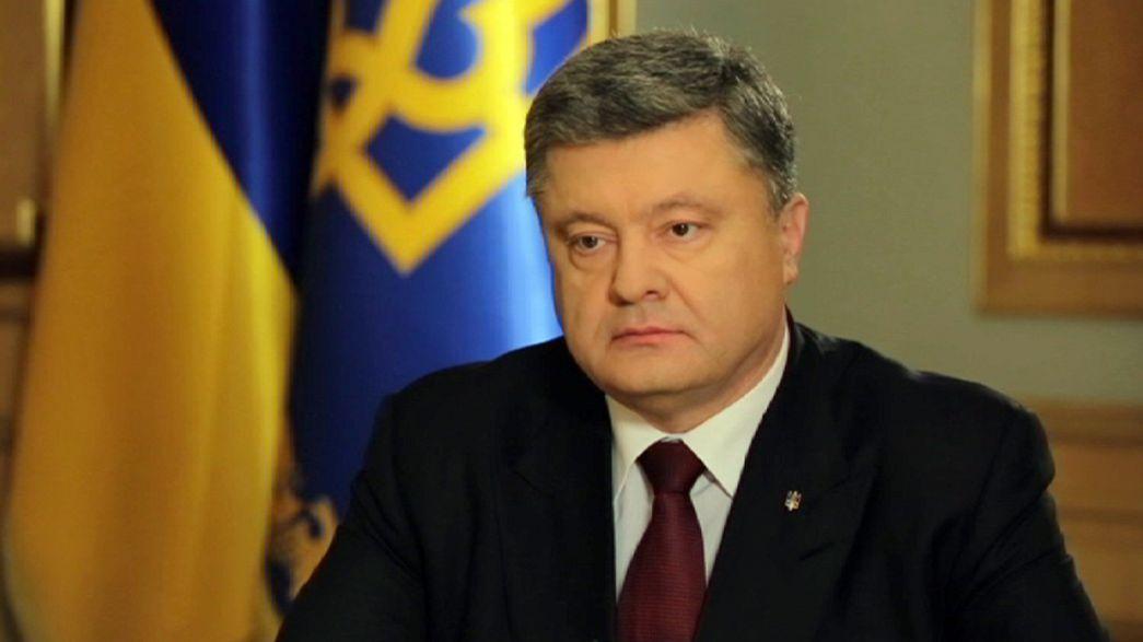 """""""Nous avons besoin de casques bleus pour garantir la paix et la sécurité"""", Petro Porochenko"""