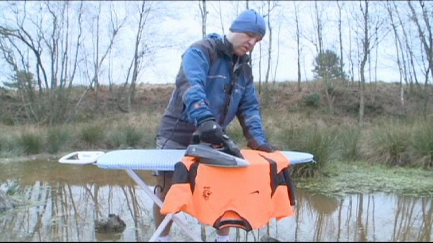 Extreme ironing creator returns to world's weirdest sport