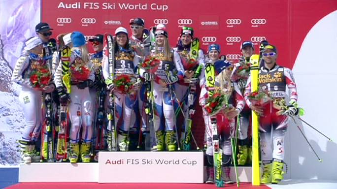 Switzerland win team event at World Cup finals