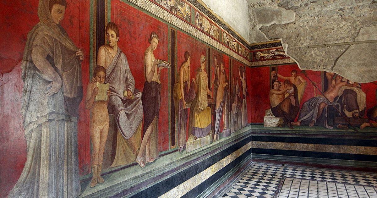 Руины города Помпеи (Pompei), Италия