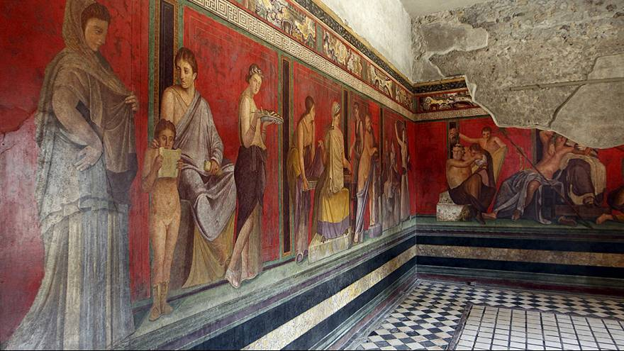 """Pompeia: """"Villa dos Mistérios"""" reabre ao público"""
