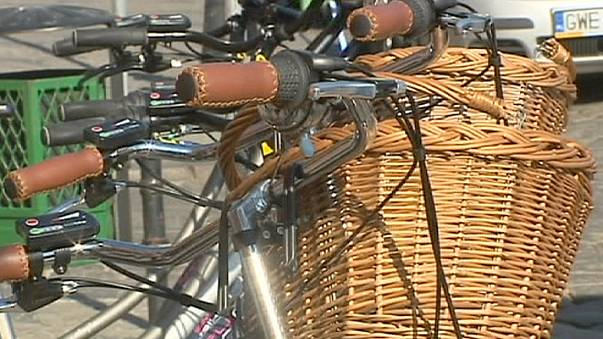 Polish city Slupsk uses bicycles for official duties