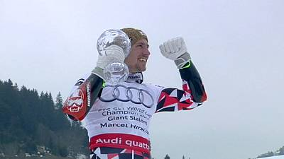Hirscher clinches Overall and Giant Slalom skiing World Cup double in Meribel