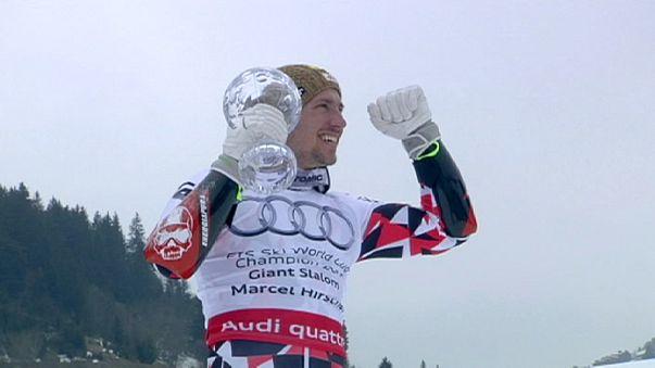 Alpesi sí vk döntő - Marcel Hirscher két csatát nyert