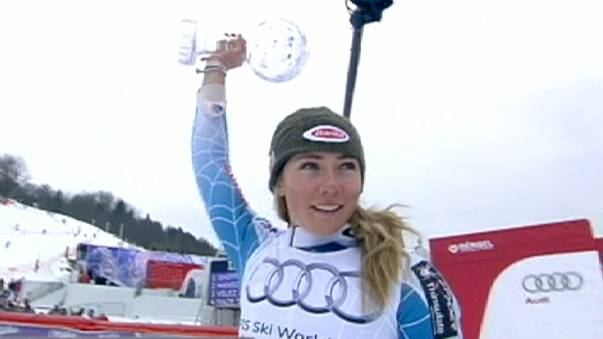 Crystal run continues for US as Shiffrin skis to slalom title