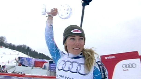Sci alpino: a Mikaela Shiffrin slalom e coppetta