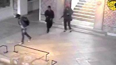 Surveillance footage shows gunmen at Tunis museum