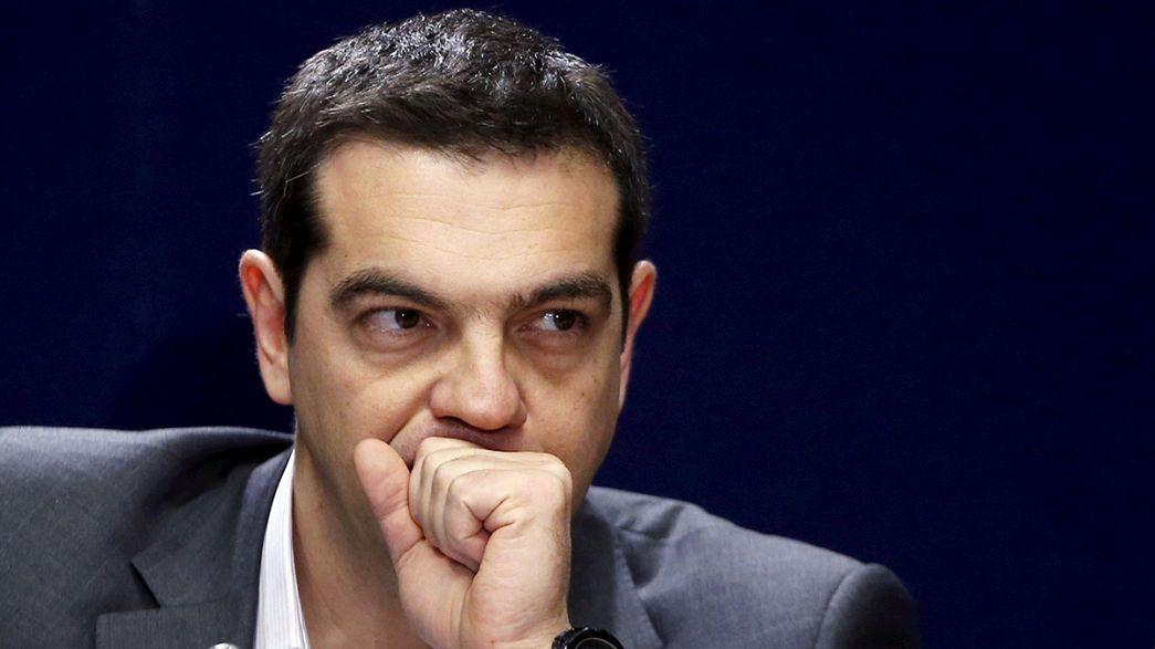 Griechischer Ministerpräsident Tsipras in Berlin