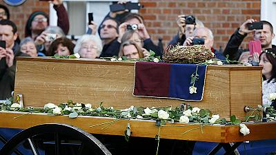 King Richard III's coffin goes on public view