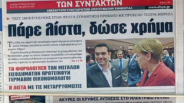 Tsipras llega a Berlín para reunirse con Angela Merkel