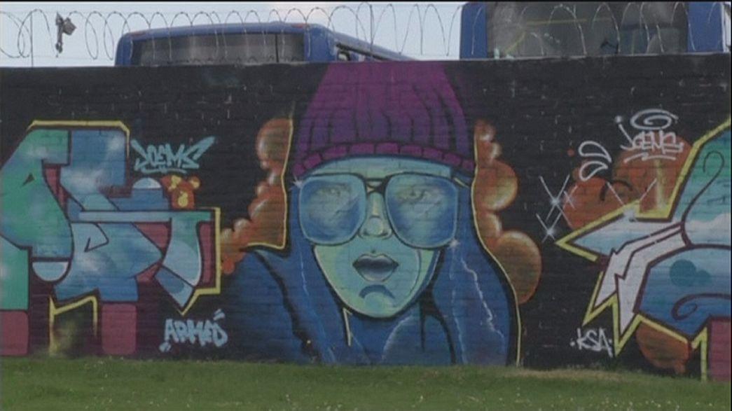 Graffitiláz Bogotában