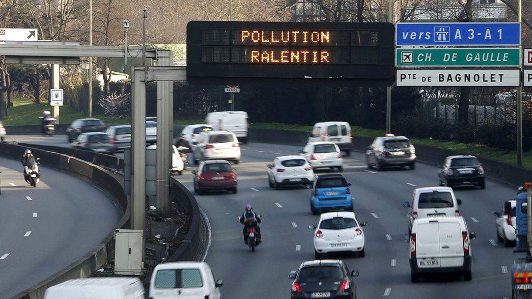 Paris'te hava kirliliğine karşı alternatif trafik uygulaması