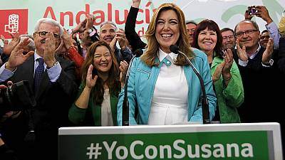 Newly reelected head of Spain's Andalusia region also expecting first child