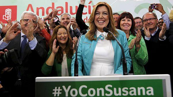 Enceinte de 5 mois et largement réélue à la Présidence d'Andalousie
