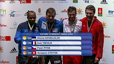 Fencing Grand Prix: Novosjolov and Shin strike gold in Budapest