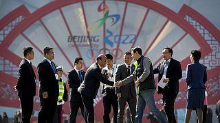 وفد اللجنة الدولية لتقييم ترشح بكين للالعاب الاولمبية الشتوية 2022