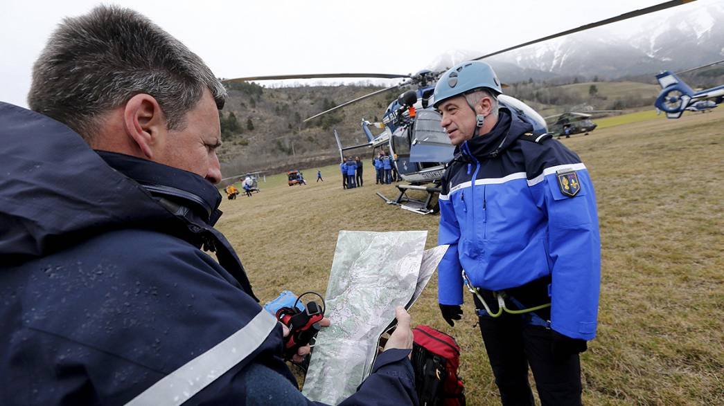 France: Search teams arrive at Germanwings plane crash site
