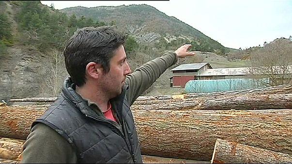 Einwohner von Barcelonnette sahen den Flugzeugabsturz