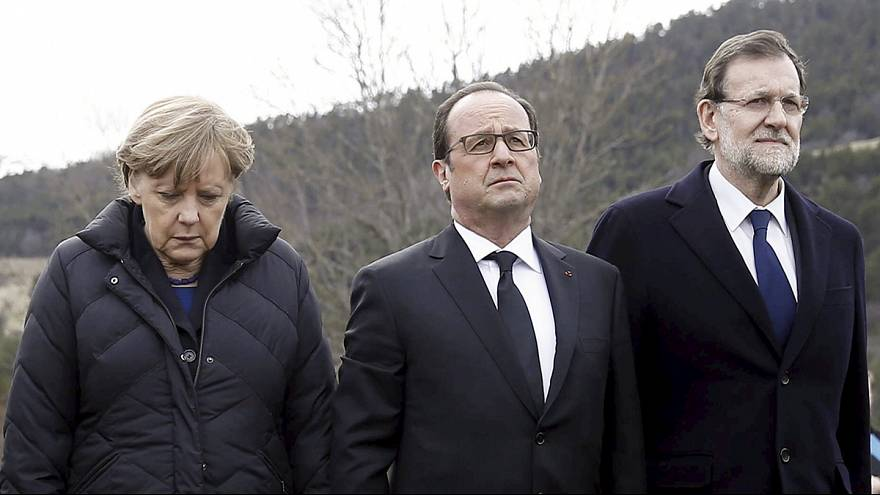 European leaders visit scene of Germanwings air crash