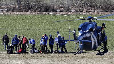 Families of the victims of Germanwings air disaster arrive at crash site