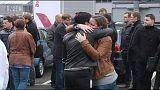 Könnyes megemlékezést tartottak a Germanwings munkatársai