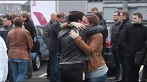 Tears as staff pay tribute to victims of Germanwings plane crash