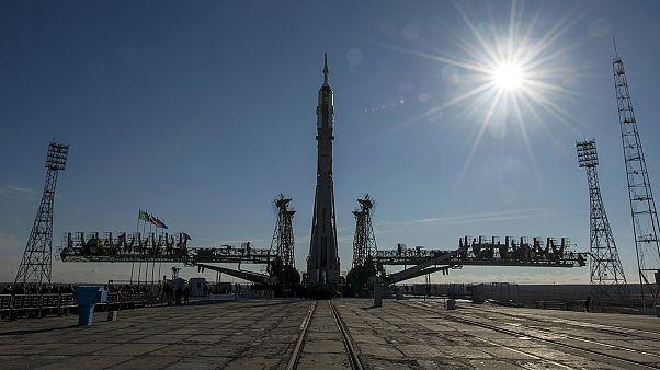 Nave Soyuz TMA-16M pronta para o lançamento