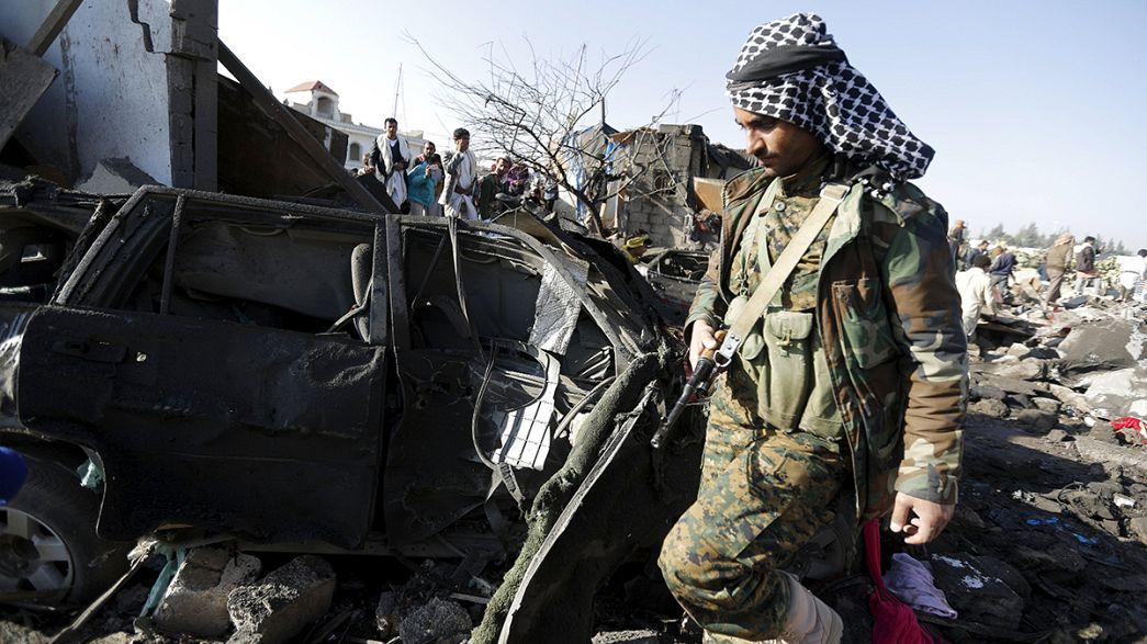 Las autoridades saudíes anuncian que bombardearon puntos estratégicos de la ciudad de Saná