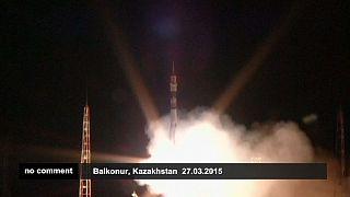 Soyuz capsule arrives