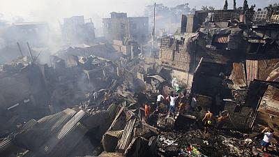 Manila: A district ravaged by a fire
