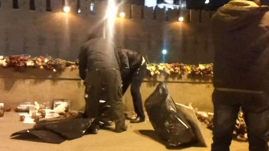 مجهولون أزالوا نصبا مؤقتا لنيمتسوف في موسكو