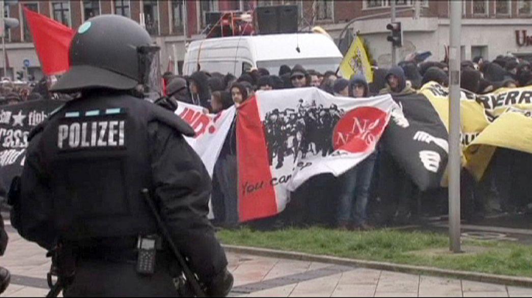 Alemania: choques en una marcha de extrema derecha en Dortmund