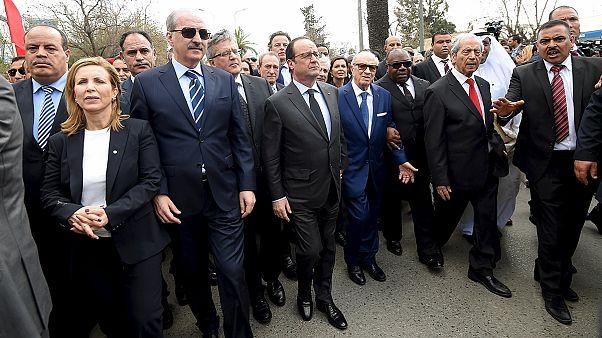 Marcha ciudadana en Túnez como repulsa al atentado del Museo del Bardo