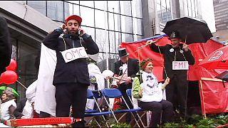 مظاهرة في بروكسيل للتنديد بالتقشف