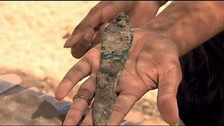 Israeli archaeologists discover Egyptian beer vessels in Tel Aviv.