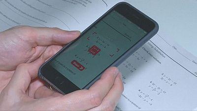 Mathe-App löst Hausaufgaben
