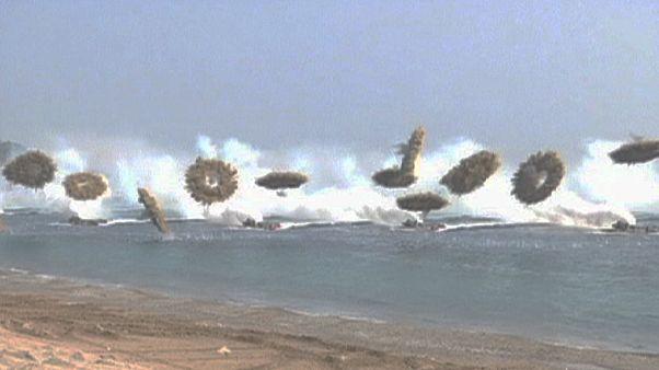 Ejercicios militares en Corea del Sur