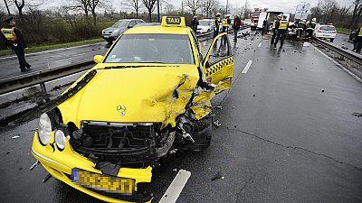 Three Greek international football players slightly hurt in Hungary taxi crash