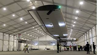 Round-the-world solar-powered flight lands in China